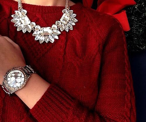 fashion, necklace, and red image