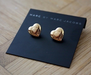 marc jacobs, earrings, and gold image