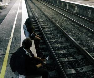 train, grunge, and boy image