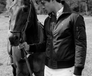 horse, Francisco Lachowski, and boy image