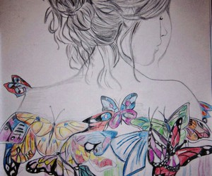 art, butterflies, and dreams image