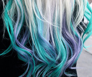 blue, love, and hair image