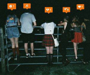 friends, grunge, and music image