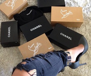 chanel, louboutin, and shoes image