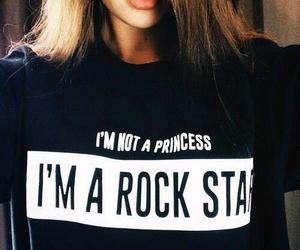 princess, rock star, and black image