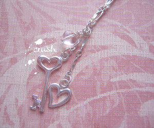 beautiful, pink, and chain image