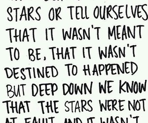 quote, the fault in our stars, and stars image