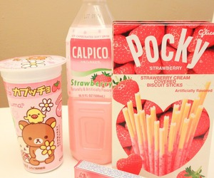 food, pocky, and pink image