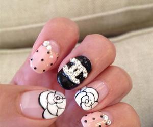 chanel, nails, and nail art image