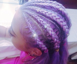 goth, hairstyles, and purple image