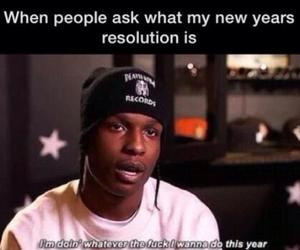 funny, new year, and resolution image