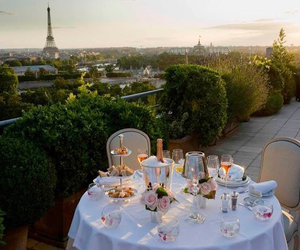 paris, dinner, and france image