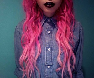 girl, hair, and lips image
