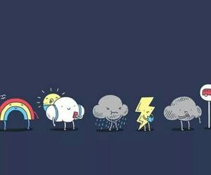 rainbow, clouds, and rain image