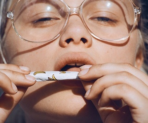 glasses, cigarette, and grunge image