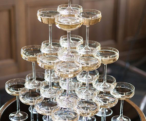 champagne, party, and drink image