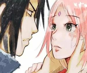 sasusaku, naruto, and sakura haruno image