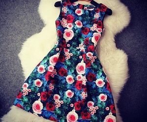 dress, flower, and look image