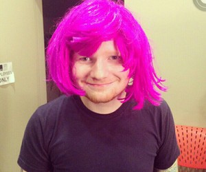 pink hair, new haircut, and ed sheeran image