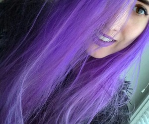 girl, grunge, and purple hair image