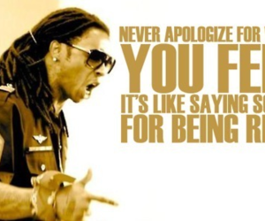 lil wayne, quote, and apologize image