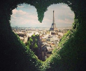 city, window, and heart image