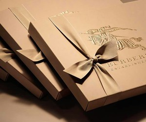 box, Burberry, and gift image
