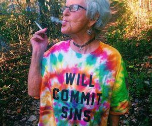 grandma, grunge, and smoke image