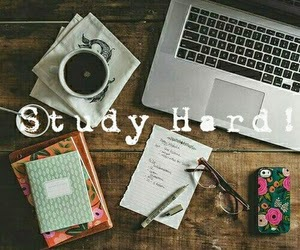 school, study, and coffe image