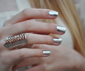 nails, silver, and ring image