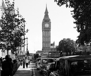 black and white, london, and Londres image