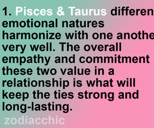 pisces, taurus, and compatibility image