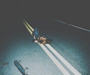 grunge, road, and night image