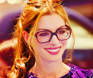 Anne Hathaway, glasses, and actress image