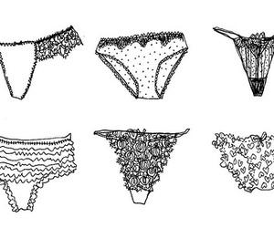 underwear, illustration, and panties image