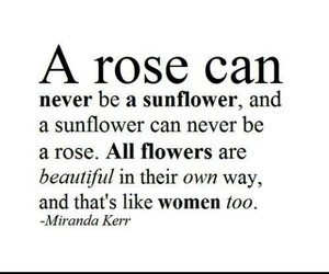 quote, woman, and rose image