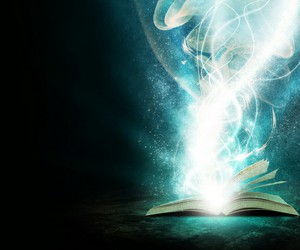 book, magic, and blue image
