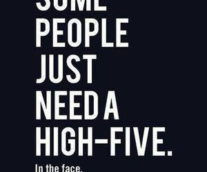high-five, people, and chair image
