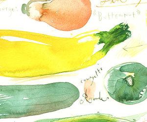 illustration, watercolor, and vegitable image