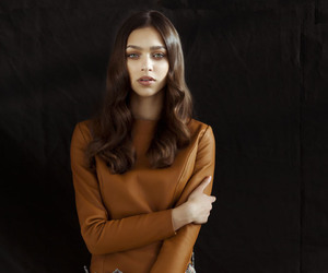 brown, model, and brown hair image