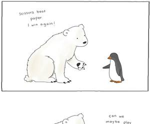 penguin, Polar Bear, and funny image