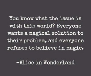 alice in wonderland and magic image
