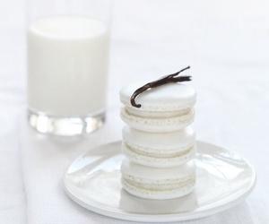 white, food, and macarons image