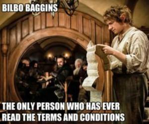 funny, bilbo baggins, and the hobbit image