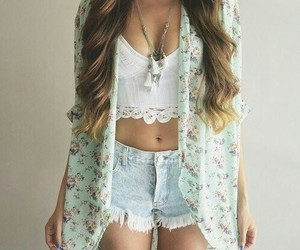 fashion, floral, and white image
