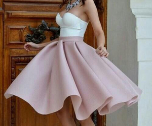 dress, pink, and skirt image
