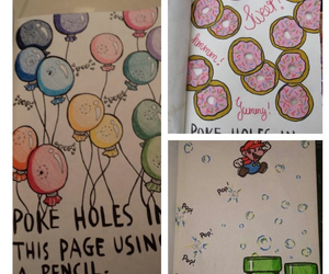 holes, wreckthisjournal, and poke image