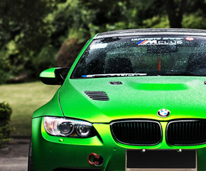 car, green, and bmw image