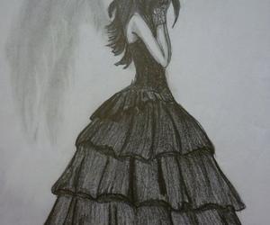 angel, drawing, and sad image