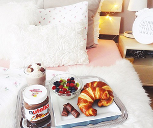 breakfast, nutella, and chocolate image